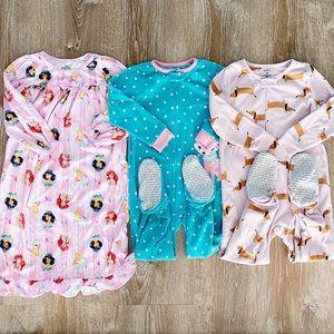 4T footed sleeper nightgown pajama lot Disney